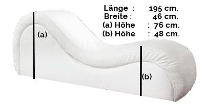 Größe des Tantrastuhls: Modell VENUS