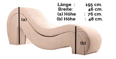 Größe des Tantrastuhls: Modell DeLuxe