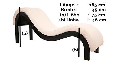 Größe des Tantrastuhls: Modell SM Elegance
