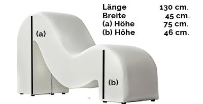 Größe des Tantrastuhls: Modell TANTRA